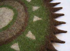 Badezimmerteppich grün ~ Filz teppich wolle teppich teppich natur grün braun von feltfield
