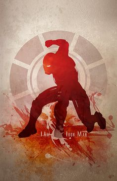 Silhouette Splatter Superhero Art ... Iron Man /// via GeekTyrant