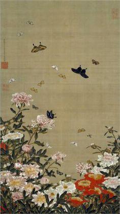 Peonies and Butterflies - Itō Jakuchū (1716-1800)