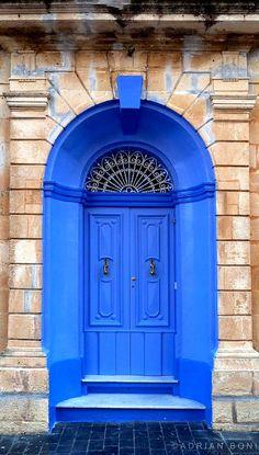 Blue door in Mdina, Malta. #RoyaleLighting