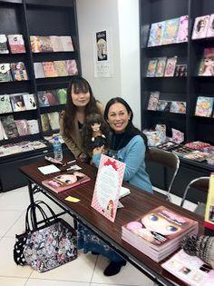 My sweet sister Junko Wong signing the Blythe Collection guide book
