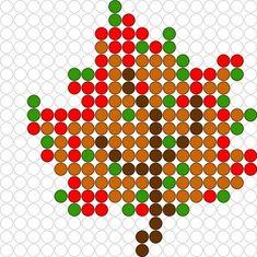 Free Perler Bead Leaf Pattern