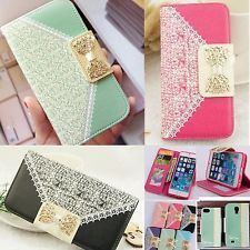 New PU Leather Flip Case Wallet Card Holder  Cover For Samsung Galaxy iPhone
