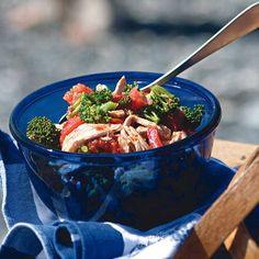 Chicken, Charred Tomato, and Broccoli Salad