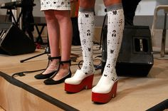 """I love a good clog..Whimsical..""""Shoe Porn: The Wildest Shoes on the Fall 2013 Runways   StyleCaster"""""""