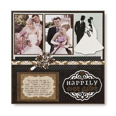 Happily Ever After Divine #Cricut #Scrapbook Layout Project Idea from Creative Memories #wedding    http://www.creativememories.com
