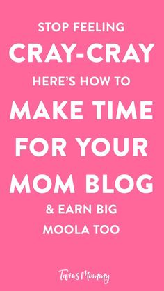 How to Make Time for Your Mom Blog (So You Can Earn Big) You are you struggling to find the time to grow your blog when you have your toddler vying for your attention? Here's how to make time and grow your income too while having a toddler at home (or two, cuz that's what I have. Twin toddlers, oh and two blogs, and freelance writings clients. Oy vey!)