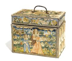 An embroidered silk casket, English third quarter 17th century | Lot | Sotheby's 6 3