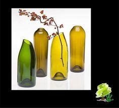 reciclando garrafas de vidro