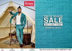 Get It or Regret It !  Visit us NOW at The Raymond Seconds Shop - Paldi and check out our 'End os Season Sale' :)  #EOSS #EndOfSeasonSale #Raymond #SALE #SaleTime #Ahmedabad #SuitedMan #SuitUp #Fashionistas #Buy2Get1Free