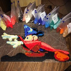 Great new bead artist on IG, so go give him some love. - Fantasia Mickey by kensbeadart #Disney #Mickey_Mouse