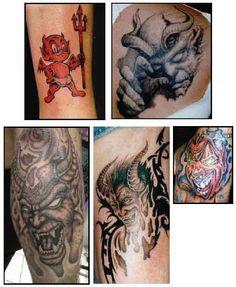 Tribal devil tattoo ideas designs