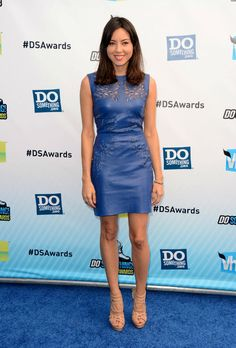 Aubrey Plaza in the Nadia dress by Catherine Deane
