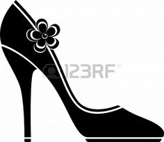 clip art image of women s high heeled shoe high heel shoes rh pinterest com high heel clip art free high heel boots clipart