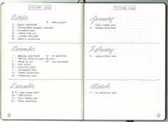 Bullet Journal 101 - The Future Log