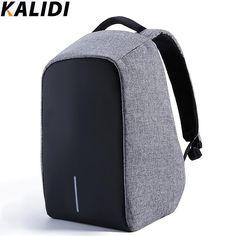 Kalidi antirrobo hombres mujeres cargo usb externo portátil de 15.6 pulgadas mochila portátil mochila mochila mochila masculina feminina
