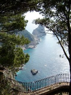 Capri, mediterranean sea, trees