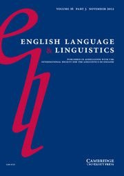 English Language and Linguistics -http://journals.cambridge.org/ELL