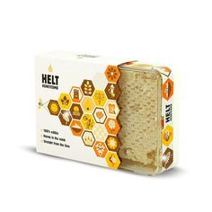 """We designed the gold embellished packaging for our old client - it's edible honeycomb straight from beehives and supposedly very healthy. Jar Packaging, Honey Packaging, Food Packaging Design, Honey Store, Honey Logo, Honey Brand, Honey Label, Bee Design, Bee Keeping"