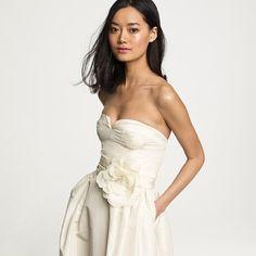 silk taffeta sasha gown. j.crew. wedding dress with pockets from j.crew, could I ask for more? @Liz Jones