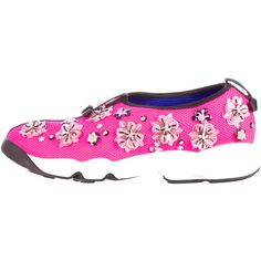 Christian Dior Fusion Sneakers (1,215 CAD) ❤ liked on Polyvore featuring shoes, sneakers, pink, multicolor shoes, multi colored sneakers, pink sequin sneakers, multicolor sneakers and pink shoes
