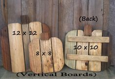 Pallet Wood Pumpkins Unfinished Wood Fall by LowerArkCrafts