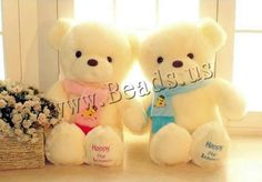 Plush Teddy Bear Doll, different size for choice, more colors for choice, Sold By Lot
