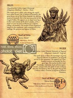 , either by drawing a picture of whichever demon sounds fun to them, or by expanding on that demons background, or incorporating them into Dark Creatures, Mythical Creatures Art, Mythological Creatures, Fantasy Creatures, Occult Symbols, Magic Symbols, Occult Art, Myths & Monsters, Demon Art