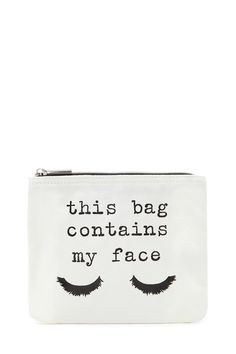 My Face Makeup Bag | Forever 21 - 1000202686