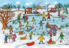 TOUCH this image: Lied: schaatsen, Lied: Ik wil sneeuw, Prentenboek: Bo en . by gertrude Communication Orale, Picture Comprehension, Hidden Pictures, Picture Story, Winter Pictures, Winter Sports, Winter Wonderland, Storytelling, Converse