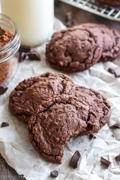 Chewy Chocolate Almond Cookies | These cookies are almost brownie like in texture and full of chocolate almond flavor!: