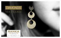 A stunning set of diamond studded earrings that will make your heart beat faster.