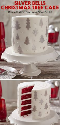 Bake a little love into the holidays with the Wilton Cake Decorating 5-layer cake of the month! It is way easier than it looks, learn how with Wilton!