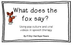 Free sentence frame activity while using pop culture in speech therapy (by If Only I Had Super Powers).