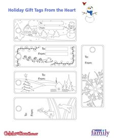 Free Holiday Gift Tags from Nestle
