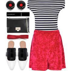 How To Wear stripes & red Outfit Idea 2017 - Fashion Trends Ready To Wear For Plus Size, Curvy Women Over 20, 30, 40, 50