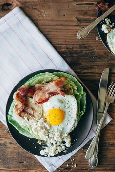 grilled wedge salad with a fried egg + cranberry feta! | my name is yeh