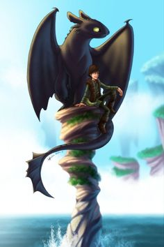 Friendship . . . Hiccup and Toothless. I love this movie and what it teaches