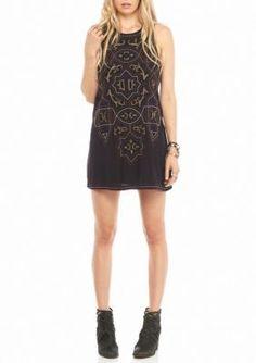 Free People  Mandala Shift Mini Sleeveless Dress