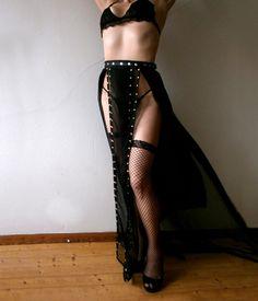 Dream Warriors black chiffon overskirt/long see through maxi skirt. Tribal fusion bellydance burlesque dancer dark goth rock fantasy fashion by DreamWarriors on Etsy https://www.etsy.com/listing/489462997/dream-warriors-black-chiffon