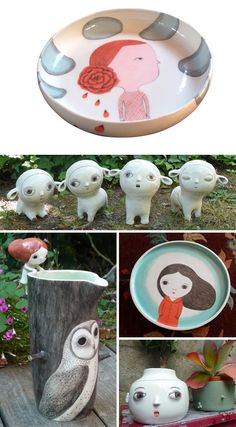 whimsical ceramics by Nathalie Choux at www.imaginativebloom.com