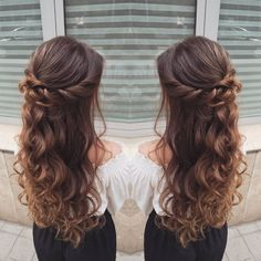 - New Site - Frisuren Hair Quince Hairstyles, Down Hairstyles, Braided Hairstyles, Wedding Hairstyles, Sweet 16 Hairstyles, Updo Hairstyle, Wedding Updo, Braided Updo, Long Hair Formal Hairstyles