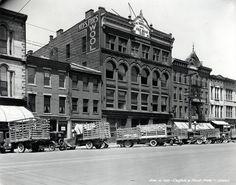 1930s Louisville Kentucky Delivery Trucks Street Scene Photo