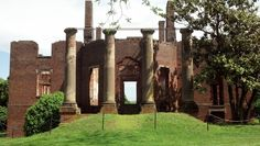 The ruins of Barboursville, home of James Barbour, 18th governor of Virginia.  The home was designed by Thomas Jefferson and burned on Christmas Day, 1884.