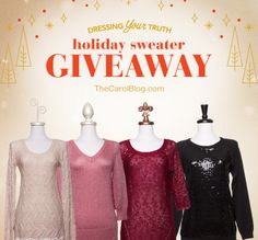 Enter to Win One of These Holiday Sweaters – December Giveaway! - The Carol Blog
