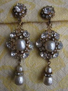 Vintage Signed Miriam Haskell earrings