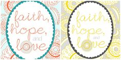 Free printables from penandpaint. Lovely little reminders, definitely going to print and frame those beauties