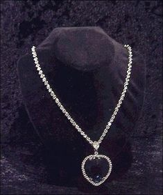 Titanic Necklace Heart Of The Ocean   The heart of the Ocean  is the name given to the blue sapphire that was worn by the heroine in the mo...
