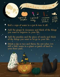 The Witchy Stuff — In the night of Halloween there's also Samhain,. Witch Potion, Witch Spell, Start Of Winter, Samhain Halloween, Under Your Spell, Baby Witch, Wicca Witchcraft, Magick Spells, Modern Witch