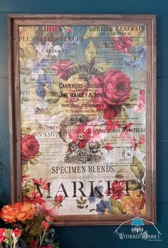 Decoupage Furniture, Painted Furniture, Decoupage Wood, Painted Dressers, Decoupage Tutorial, Diy Wall Art, Diy Wall Decor, Craftsman Frames, Iron Orchid Designs